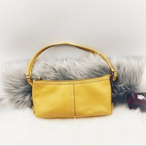 Relic By Fossil Brand By Yellow Leather Handbag